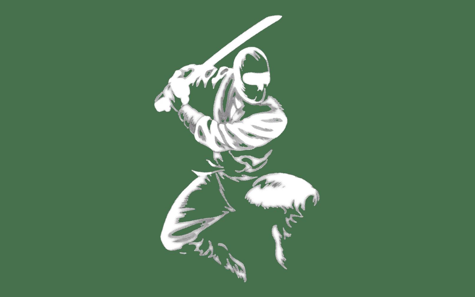 Jumping Ninja with a Sword